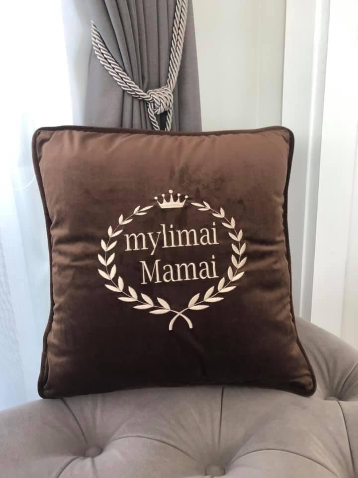 """Aksominė pagalvėlė """"Mylimai mamai"""""""