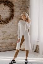 Baltos spalvos megzta tunika/megztinis S/M