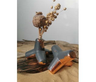 Bangolaužis - vazelė dekoruotas vario folija