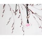 """Kaklo papuošalas """"Mažasis Paukštukas"""" rožiniu sparneliu"""