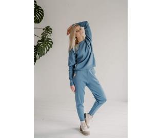 Megztas laisvalaikio kostiumas, spalva mėlyna