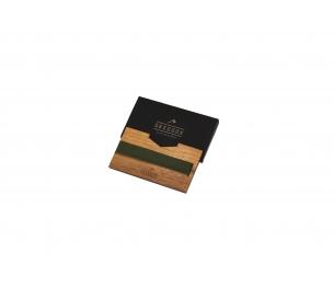 Piniginė, amerikietiškas riešutas, gumos spalva samaninė žalia