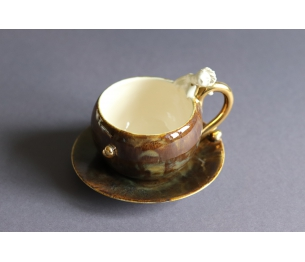 """Prabangus puodelis su lėkštute """" Gražvydo artumas"""""""