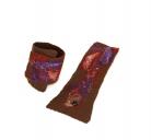 Riešinės rudos spalvos dekoruotos įvairiais pluoštais 1.1