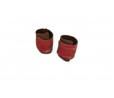 Riešinės rudos spalvos dekoruotos įvairiais pluoštais 1.2