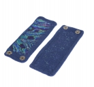 Riešinės tamsiai mėlynos su vaivorykštiniu audiniu