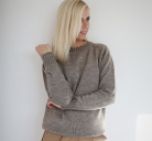 Rusvos spalvos megztinis S/M