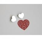 """Segė """"Mažoji širdis"""" sidabro spalva"""