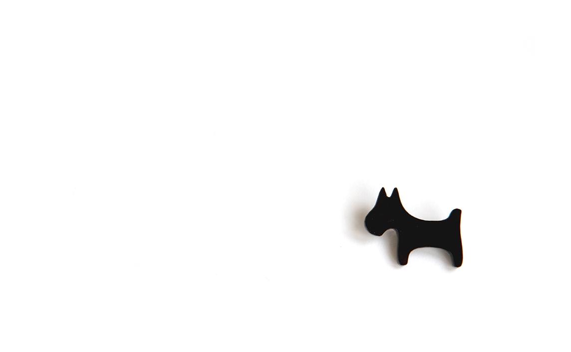 """Segė """"Šuniukas žirniukas"""" juoda spalva"""