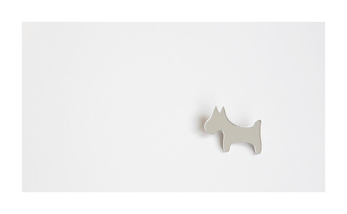 """Segė """"Šuniukas žirniukas"""" sidabro spalva"""