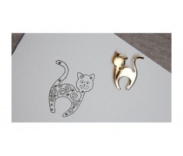 """Segė """"Svajonių katinas"""" aukso spalva"""