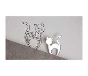 """Segė """"Svajonių katinas"""" sidabro spalva"""