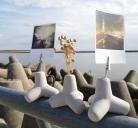 Šviesiai pilkas bangolaužis - nuotraukos laikiklis