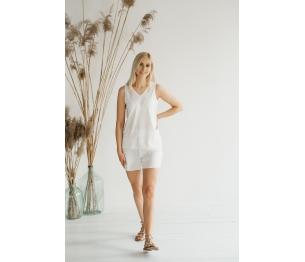 Vasariška palaidinė, baltos spalvos