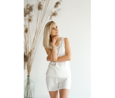 Vasariški šortai, baltos spalvos