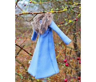 Žieminis paltas-šalikas-Letenaitės