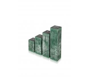 """Žvakė """"Smaragdas"""", kvadrato formos"""