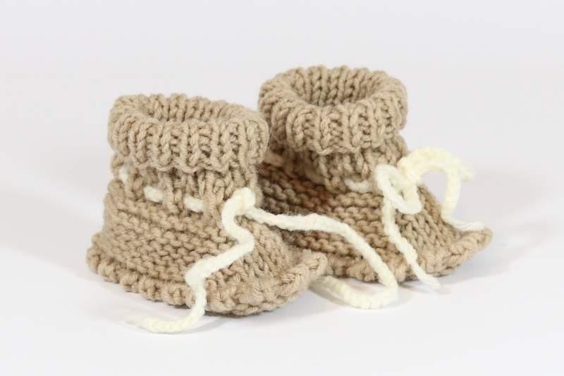 Megzti batukai kūdikiams, šviesiai rudi